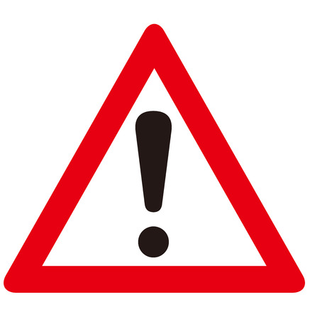 Illustration for warning sign  - Royalty Free Image