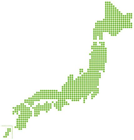 Ilustración de japan map Vector - Imagen libre de derechos