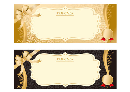 Illustrazione per Voucher Vector - Immagini Royalty Free