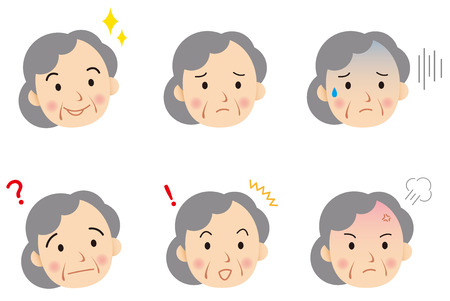 Illustration pour senior face Vector - image libre de droit