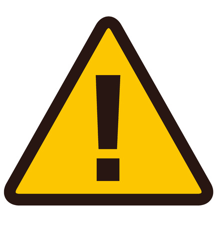 Illustration pour warning sign Vector - image libre de droit