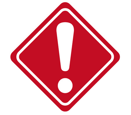 Illustrazione per warning sign Vector - Immagini Royalty Free