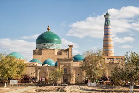 Photo for Khiva, view of the Pakhlavan Mahmud architectural complex and the minaret of Islam-Khodja. Uzbekistan - Royalty Free Image