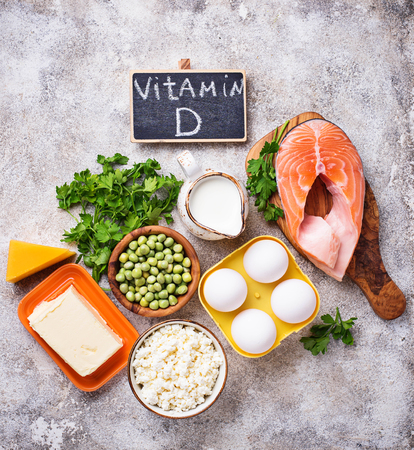 Photo pour Healthy foods containing vitamin D - image libre de droit