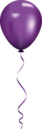 Illustration pour Vector illustration of purple balloon - image libre de droit