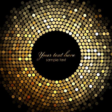 gold disco lights frame