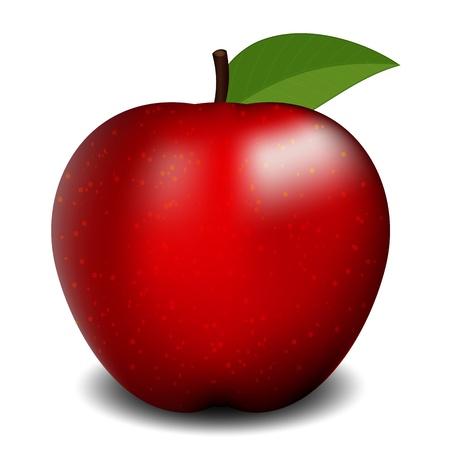 Illustration pour Vector illustration of red apple - image libre de droit