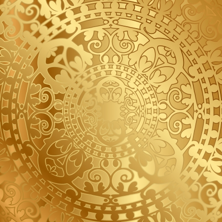 Photo pour Vector gold background with oriental decoration - image libre de droit
