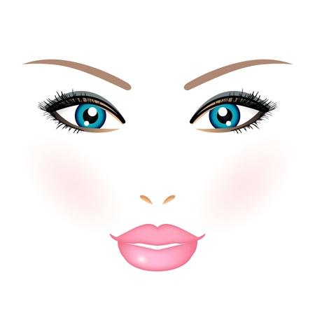Illustration pour Vector illustration of woman face - image libre de droit