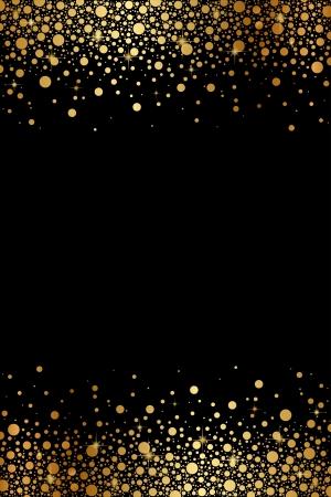 Illustration pour Vector black and gold luxury frame - image libre de droit
