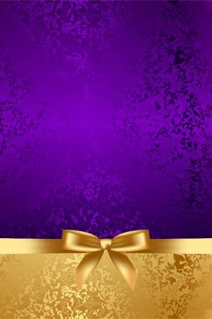 Illustration pour Vector luxury background with gold bow - image libre de droit
