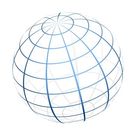 Illustration for  globe icon - Royalty Free Image