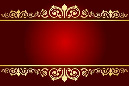 Illustration for Vector royal background with decorated frame - Royalty Free Image