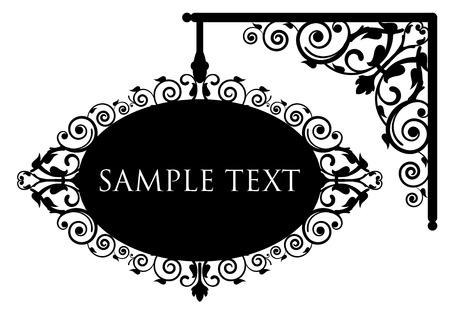 Illustration pour Vector illustration of antique signboard - image libre de droit