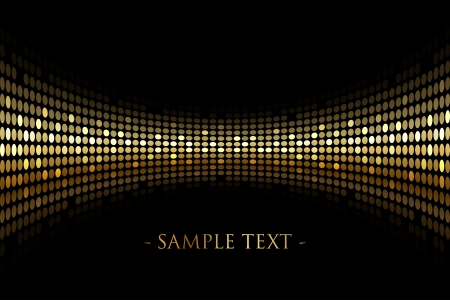 Ilustración de Vector black background with gold lights with space for your text - Imagen libre de derechos