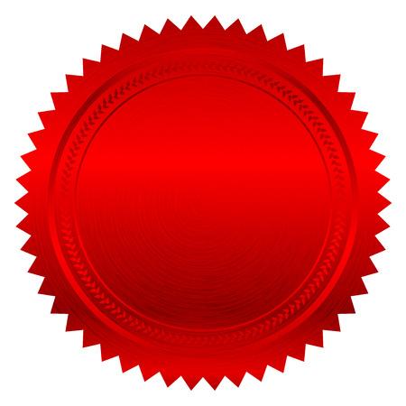 Illustration pour Vector illustration of red seal - image libre de droit