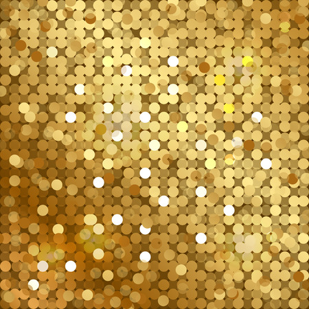Illustration for Vector gold background with sequins - Royalty Free Image