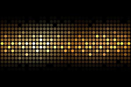Illustration pour Vector gold lights on black background - image libre de droit