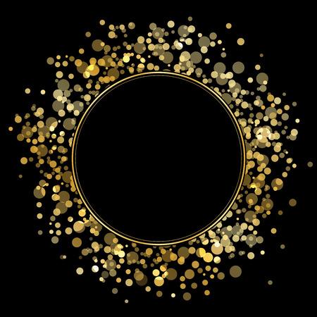 Illustration pour Vector frame with gold sparkles - image libre de droit