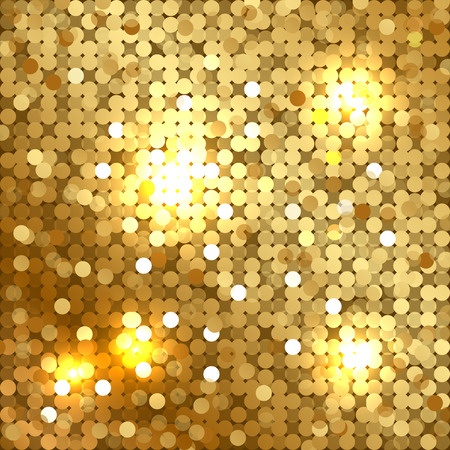 Illustration pour Vector shiny background with gold sequins - image libre de droit