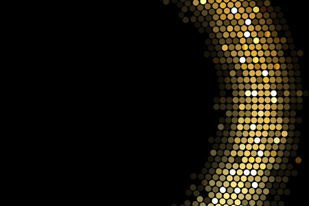 Ilustración de Vector frame background with gold lights - Imagen libre de derechos