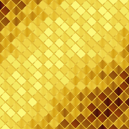 Illustration for Vector golden mosaic background - Royalty Free Image
