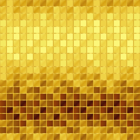 Illustration for golden mosaic - Royalty Free Image