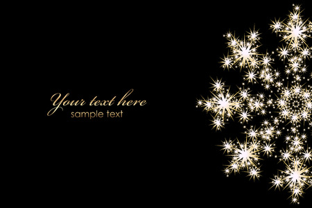 Illustration for Vector background with glowing snowflake - Royalty Free Image