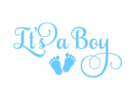 Illustration pour It's a Boy inscription - image libre de droit