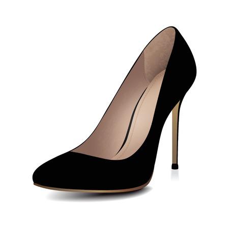Illustration pour High heels black shoe  Vector illustration - image libre de droit