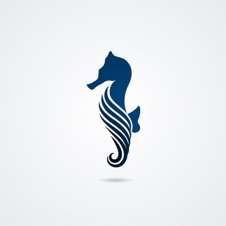 Illustration pour Seahorse isolated on white background. Vector illustration - image libre de droit