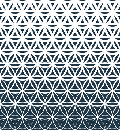 Illustration pour Gradient geometric seamless pattern. - image libre de droit