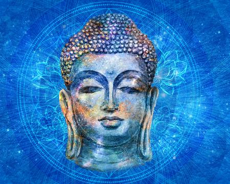 Foto de Head Smiling Buddha - Imagen libre de derechos