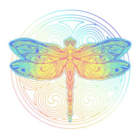 Illustration pour Dragonfly vector tattoo - image libre de droit
