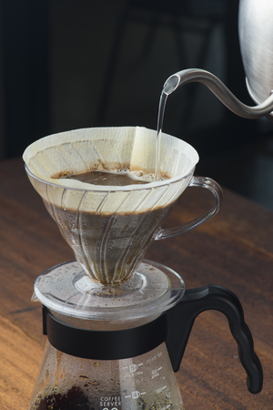 Photo for hot americano being brewed - Royalty Free Image