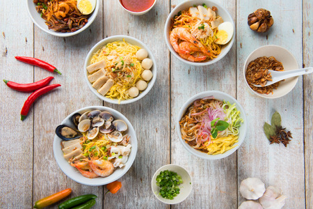 Photo for various malaysian noodles top up view - Royalty Free Image
