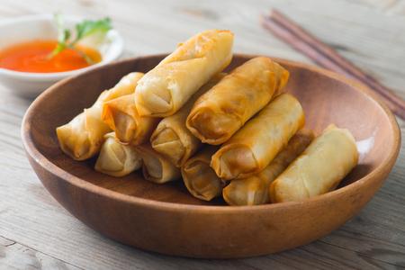 Photo pour deep fried spring rolls , popia  - image libre de droit