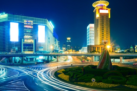 Photo for beautiful night view of shanghai finance and trade zone - Royalty Free Image