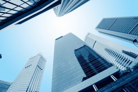 Foto de modern business center in hongkong - Imagen libre de derechos