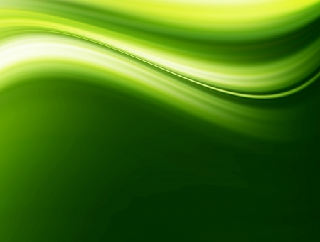 Green wave and  space to insert text or design abstract background