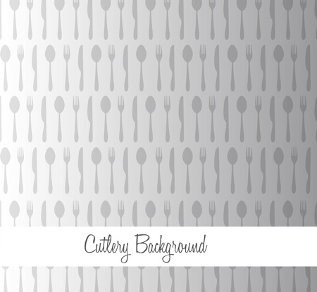 Gray cutlery background. vector illustrator