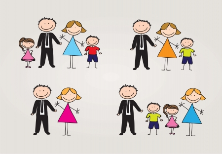 Photo for different types of family. vector illustration - Royalty Free Image