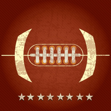 American Football abstract concept with stars on grunge background mural