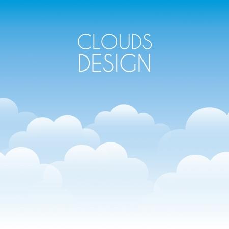 Illustration pour clouds design over sky background illustration  - image libre de droit