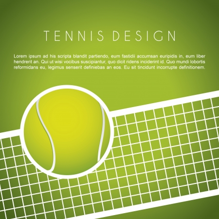tennis design over green background vector illustration