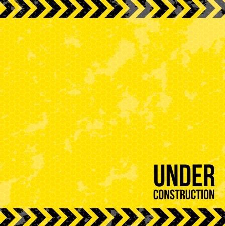 Illustration pour under construction over yellow background vector illustration  - image libre de droit