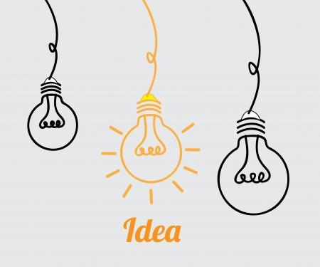 Ilustración de bulbs design over gray background vector illustration  - Imagen libre de derechos
