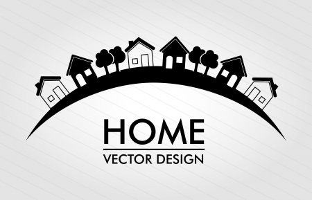 Illustration for home  design over lines background illustration  - Royalty Free Image