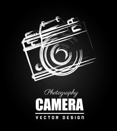 Ilustración de camera design over black background  - Imagen libre de derechos