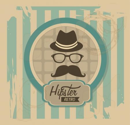 Ilustración de hipster design over vintage background vector  illustration   - Imagen libre de derechos